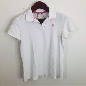 Lilly Pulitzer White Resort Fit Polo Top T-shirt s